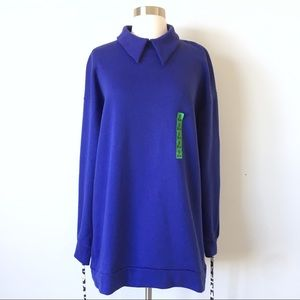 Zara Trafaluc Oversized Collared Sweatshirt